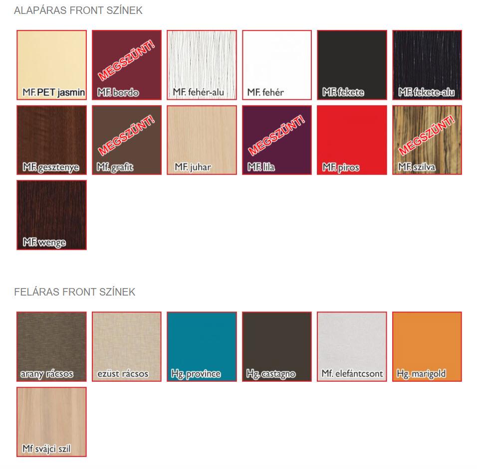 Genova front színek